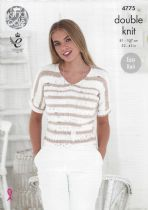 King Cole Cottonsoft Crush DK Knitting Pattern - 4775 Ladies Tops